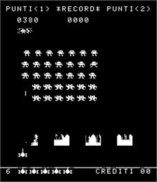 In game image of Invasion on the Arcade.