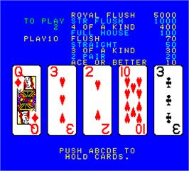 In game image of Jack Potten's Poker on the Arcade.