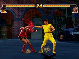 In game image of Jackie Chan - The Kung-Fu Master on the Arcade.