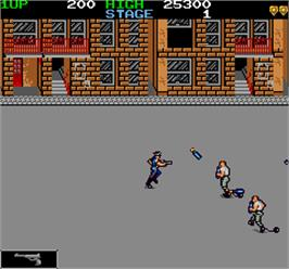 In game image of Jail Break on the Arcade.