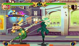 In game image of JoJo's Venture on the Arcade.