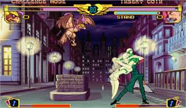 In game image of JoJo no Kimyouna Bouken: Miraie no Isan on the Arcade.