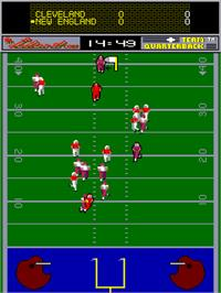 In game image of John Elway's Team Quarterback on the Arcade.