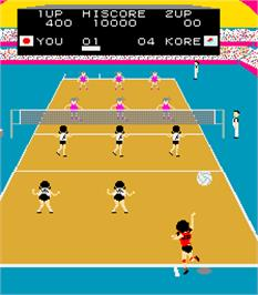 In game image of Joshi Volleyball on the Arcade.