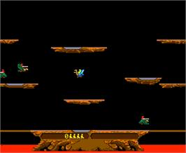 In game image of Joust on the Arcade.