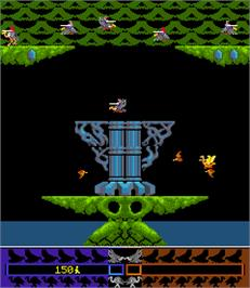 In game image of Joust 2 - Survival of the Fittest on the Arcade.