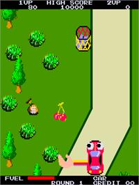 In game image of Joyful Road on the Arcade.
