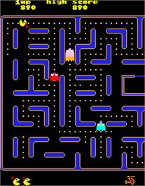 In game image of Jr. Pac-Man on the Arcade.