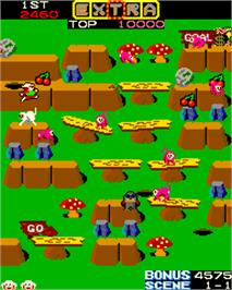 In game image of Jumping Jack on the Arcade.
