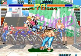 In game image of Kaiser Knuckle on the Arcade.