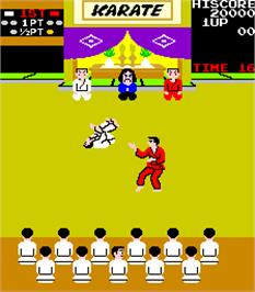 In game image of Karate Champ on the Arcade.