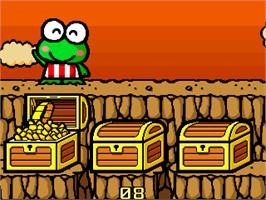 In game image of Kero Kero Keroppi no Issyoni Asobou on the Arcade.