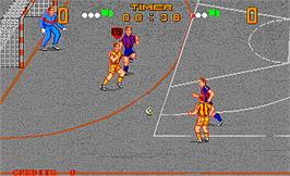 In game image of Kick Goal on the Arcade.