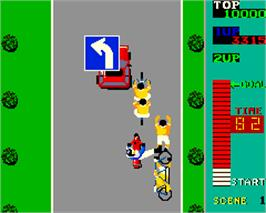 In game image of Kick Rider on the Arcade.