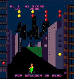In game image of Kickman on the Arcade.