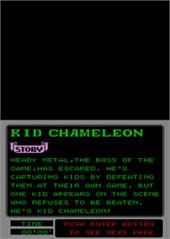 In game image of Kid Chameleon on the Arcade.
