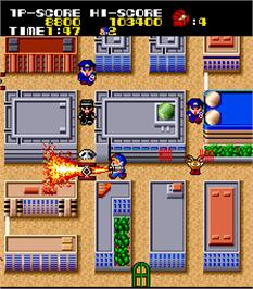 In game image of Kid no Hore Hore Daisakusen on the Arcade.