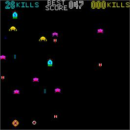 In game image of Killer Comet on the Arcade.