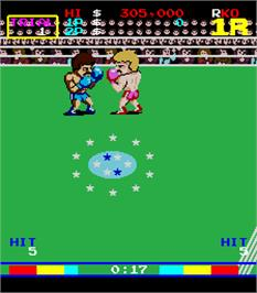 In game image of King of Boxer on the Arcade.