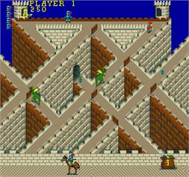 In game image of Knightmare on the Arcade.
