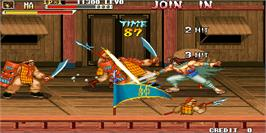 In game image of Knights of Valour / Sangoku Senki on the Arcade.
