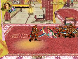 In game image of Knights of Valour - The Seven Spirits on the Arcade.