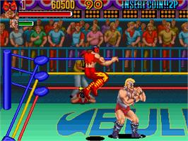 In game image of Knuckle Bash on the Arcade.