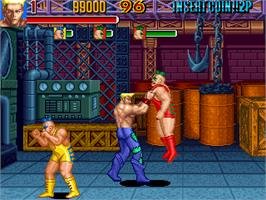 In game image of Knuckle Bash 2 on the Arcade.