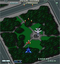 In game image of Kuhga - Operation Code 'Vapor Trail' on the Arcade.