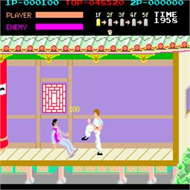 In game image of Kung-Fu Master on the Arcade.