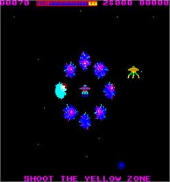 In game image of Laser Battle on the Arcade.