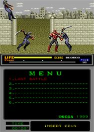In game image of Last Battle on the Arcade.