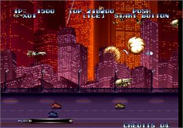 In game image of Last Resort on the Arcade.