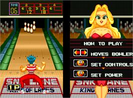 In game image of League Bowling on the Arcade.