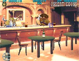 In game image of Lethal Enforcers II: The Western on the Arcade.
