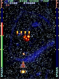 In game image of Lethal Thunder on the Arcade.