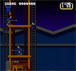 In game image of Lethal Weapon on the Arcade.