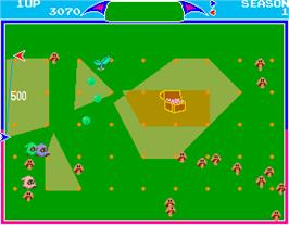 In game image of Libble Rabble on the Arcade.
