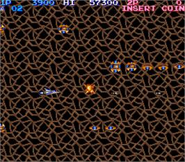 In game image of Lifeforce on the Arcade.