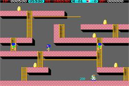 In game image of Lode Runner on the Arcade.