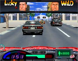 In game image of Lucky & Wild on the Arcade.