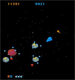 In game image of Mad Planets on the Arcade.