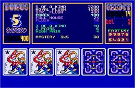 In game image of Magic Card II on the Arcade.