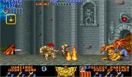 In game image of Magic Sword: Heroic Fantasy on the Arcade.
