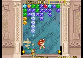 In game image of Magical Drop III on the Arcade.