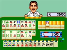 In game image of Mahjong Yoshimoto Gekijou on the Arcade.