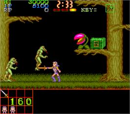 In game image of Makai Densetsu on the Arcade.