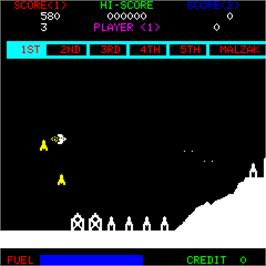 In game image of Malzak II on the Arcade.
