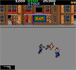 In game image of Manhattan 24 Bunsyo on the Arcade.