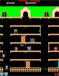 In game image of Mappy on the Arcade.